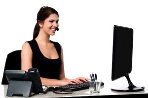 Image of Secretary Typing